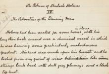 За $312,5 тысячи продали на аукционе рукопись рассказа Конан Дойла в США