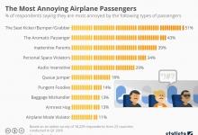 Наиболее раздражающие пассажиры самолетов
